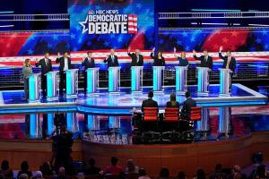 Democratic debate presidential candidates on climate change