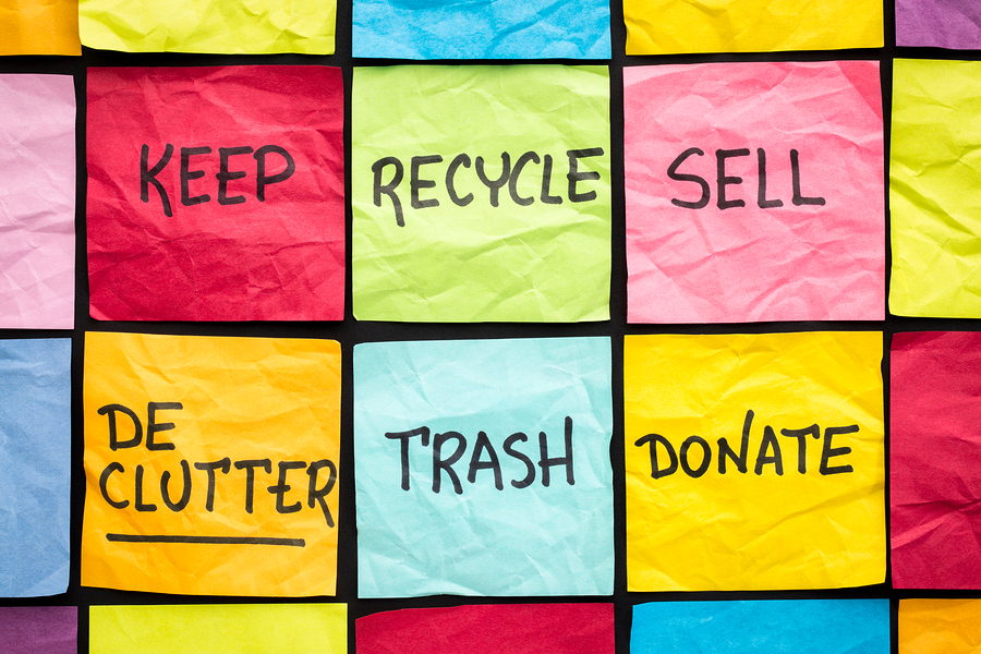 Reduce, Recylce and Reuse When Decluttering Your House for Sale