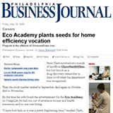 Business Journal: Eco Academy plants seeds for home efficiency vocation